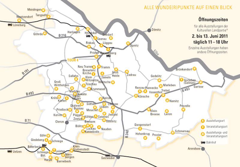 Kulturelle Landpartie Karte.Kulturelle Landpartie Wendland Kartoffel Hotel De